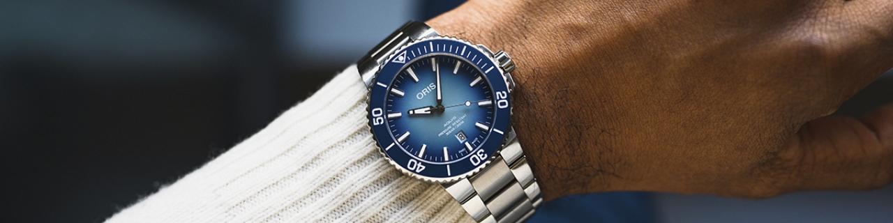 Uhren von der Schweizer Uhrenmanufkatur Oris bei Juwelier Fridrich in München