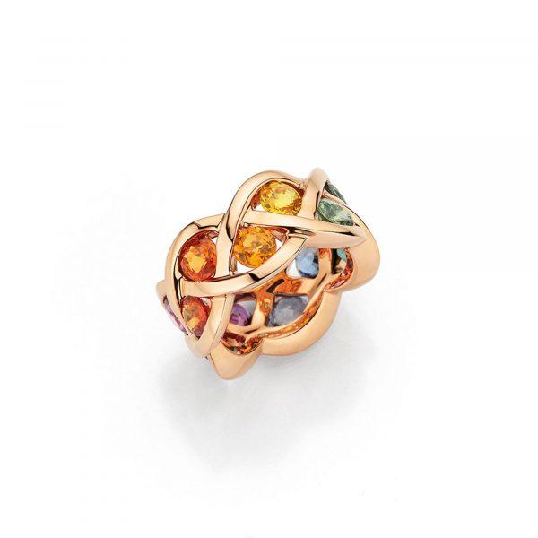 """Roségold Ring """"Fleur"""" mit Saphir von A. Odenwald bei Juwelier Fridrich in München"""