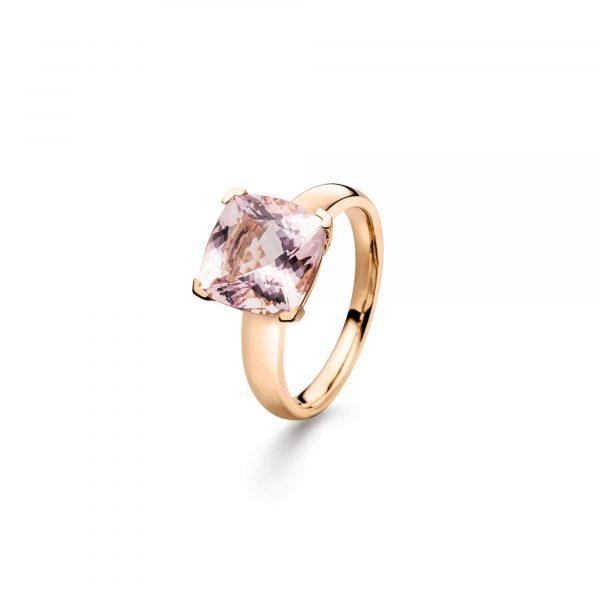 """Roségold Ring """"Colour Square"""" mit Morganit von Atelier Fridrich bei Juwelier Fridrich in München"""