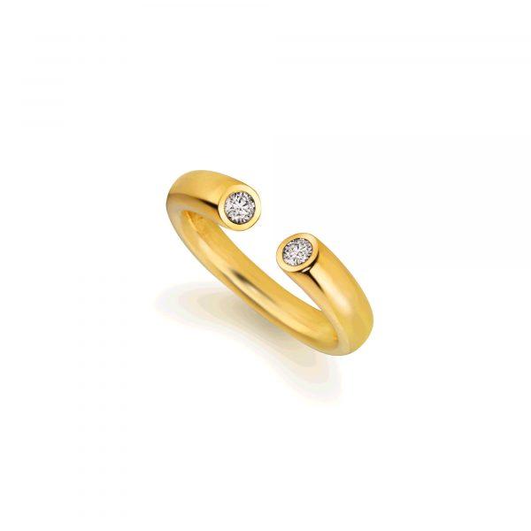 """Gelbgold Ring """"Toro II"""" von Atelier Fridrich bei Juwelier Fridrich in München"""