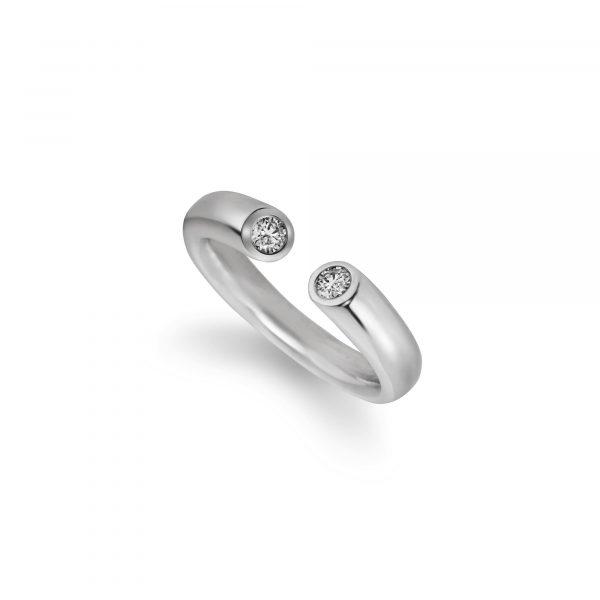 """Weißgold Ring """"Toro II"""" von Atelier Fridrich bei Juwelier Fridrich in München"""