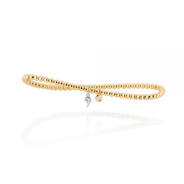 Gelbgold Armband mit Brillant von Capolavoro bei Juwelier Fridrich in München