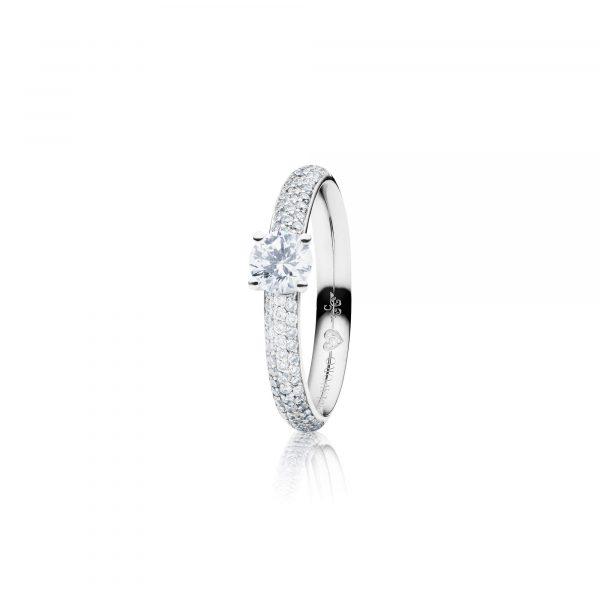 Weißgold Ring mit Brillanten von Capolavoro bei Juwelier Fridrich in München
