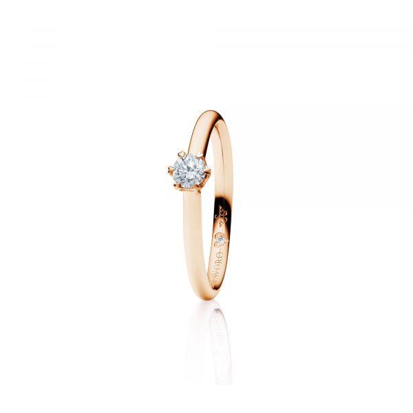 Roségold Ring mit Brillant von Capolavoro bei Juwelier Fridrich in München