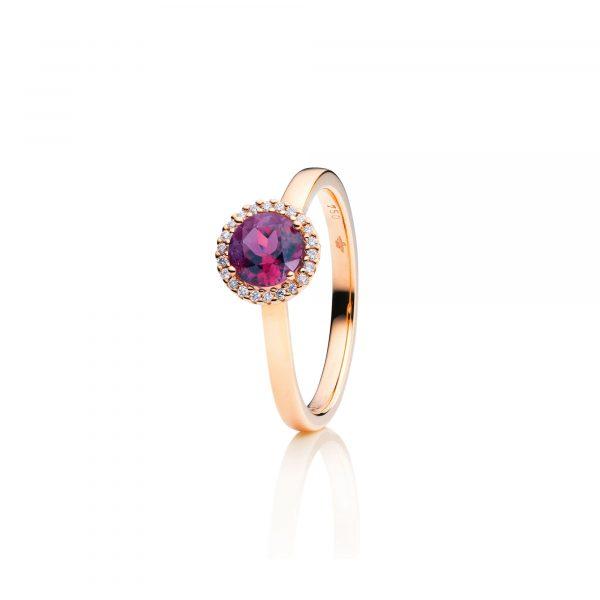 Roségold Ring mit Granat und Brillanten von Capolavoro bei Juwelier Fridrich in München