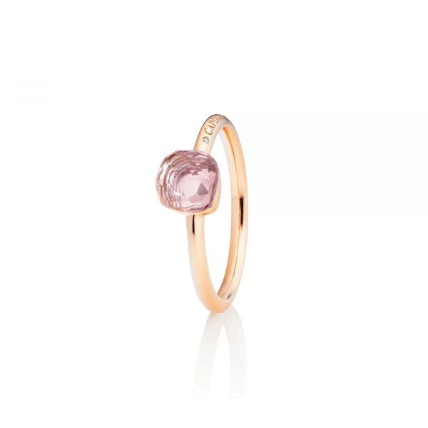 Rosgold Ring mit Rosenquarz von Capolavoro bei Juwelier Fridrich in München
