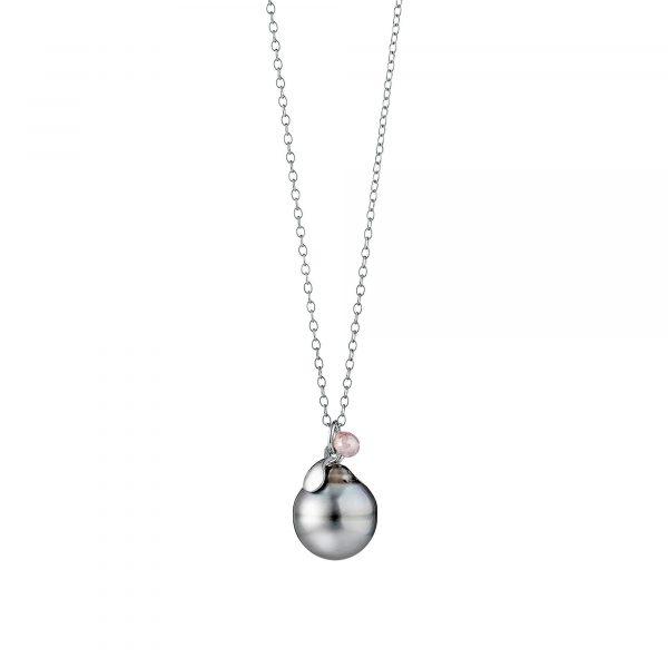Silber Collier mit Perle und Diamant von Gellner bei Juwelier Fridrich in München