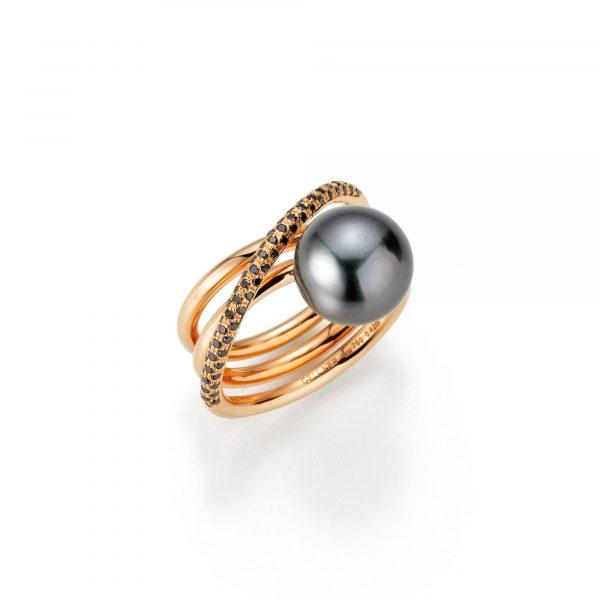 Roségold Ring mit Thaiti-Zuchtperle und Diamanten von Gellner bei Juwelier Fridrich in München