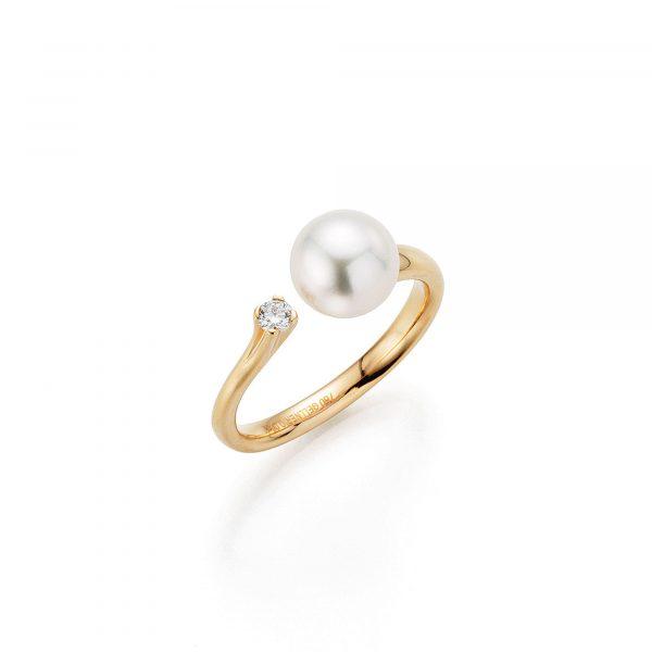 Roségold Ring mit Perle und Brillant von Gellner bei Juwelier Fridrich in München