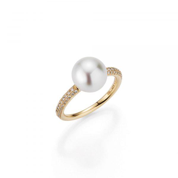 Roségold Ring mit Perle und Brillanten von Gellner bei Juwelier Fridrich in München