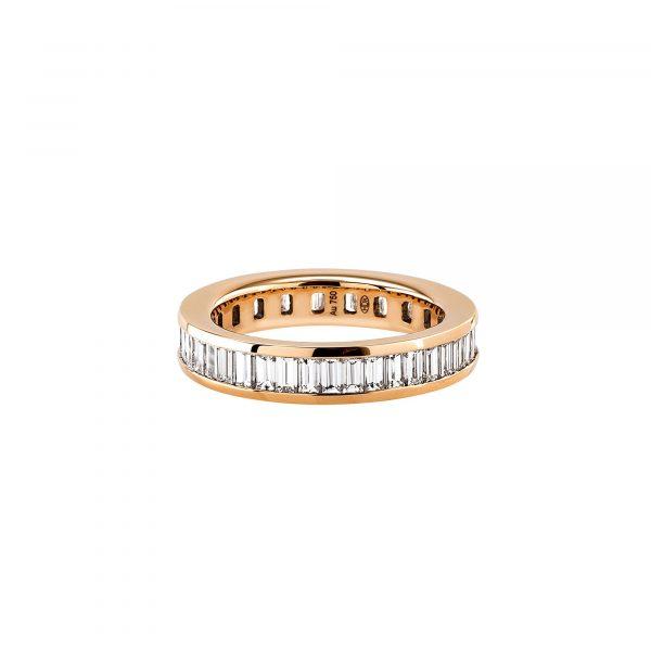 Roségold Ring mit Baguette Diamanten von Hans D. Krieger bei Juwelier Fridrich in München