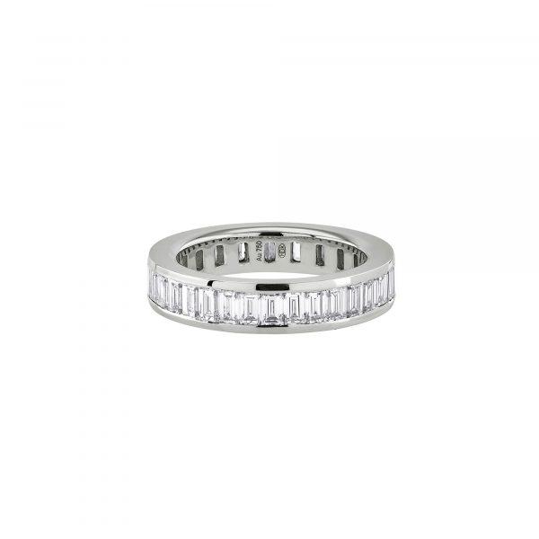 Weißgold Ring mit Baguette Diamanten von Hans D. Krieger bei Juwelier Fridrich in München
