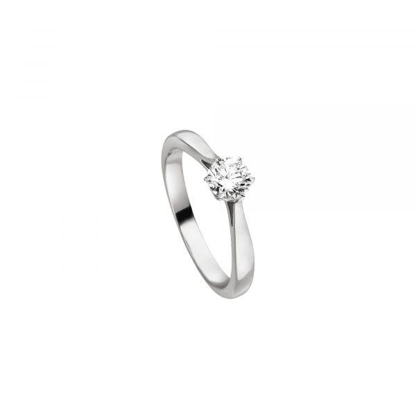 """Platin Brillant Ring """"Flame"""" von Hans D. Krieger bei Juwelier Fridrich in München"""