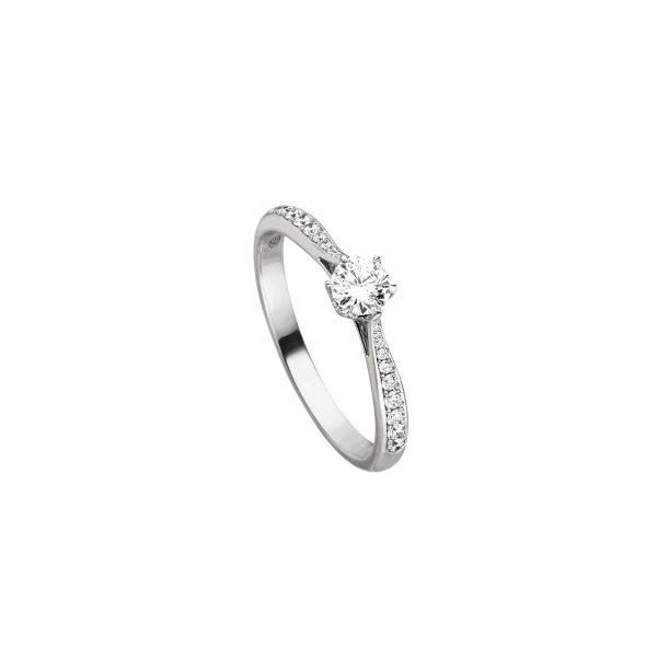 """Weißgold Brillant Ring """"Flame"""" von Hans D. Krieger bei Juwelier Fridrich in München"""