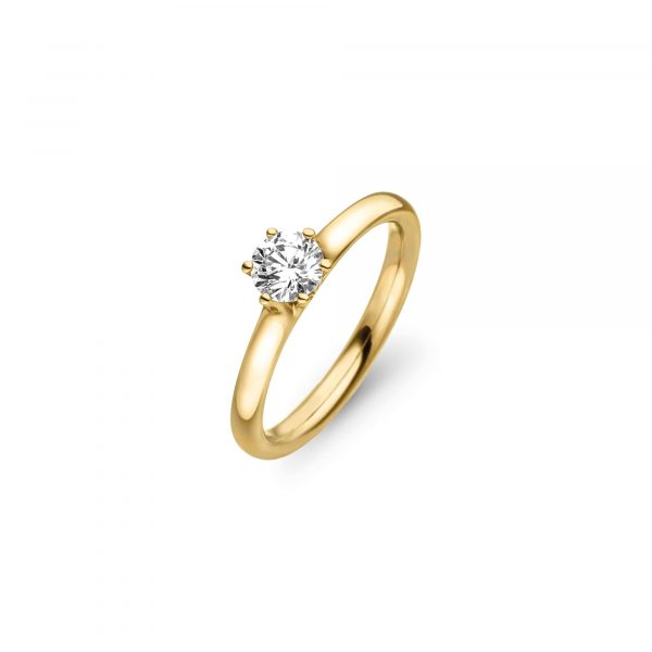 """Gelbgold Ring """"Diva"""" mit Brillant von Henrich & Denzel bei Juwelier Fridrich in München"""