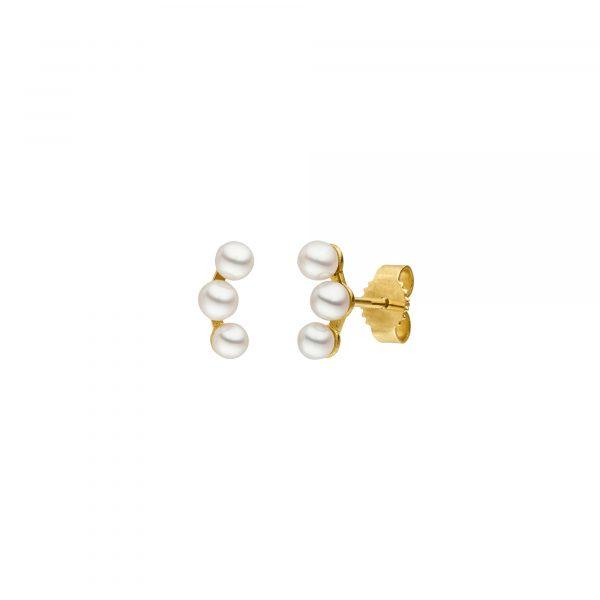 Gelbgold Perlohrstecker von Kollektion Fridrich bei Juwelier Fridrich in München