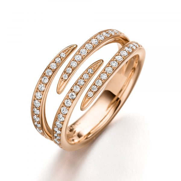 Roségold Ring mit Diamanten von Kollektion Fridrich bei Juwelier Fridrich in München