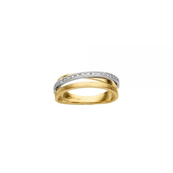 Weiß- und Gelbgold Ring mit Brillanten von Kollektion Fridrich bei Juwelier Fridrich in München