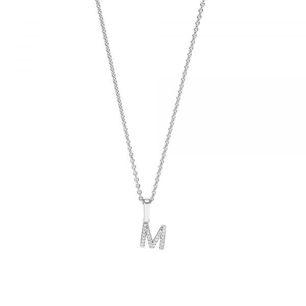 Weißgold Buchstabe M mit Diamanten von Kollektion Fridrich bei Juwelier Fridrich in München