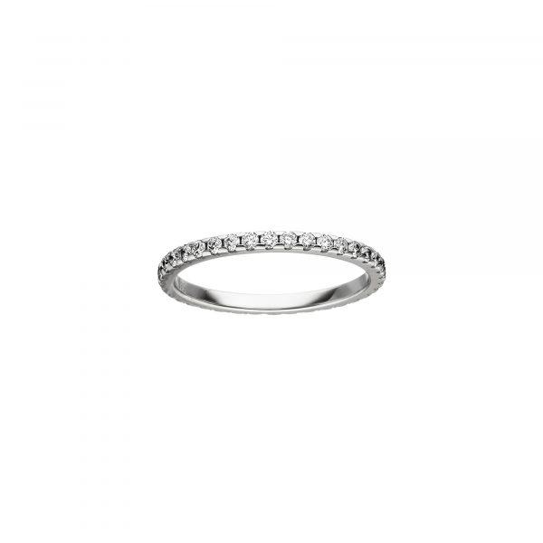 Weißgold Memoire Ring mit Brillanten von Kollektion Fridrich bei Juwelier Fridrich in München