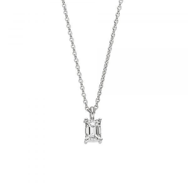 Platin Collier mit Diamant von Kollektion Fridrich bei Juwelier Fridrich in München