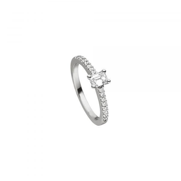 Platin Ring mit Diamanten von Kollektion Fridrich bei Juwelier Fridrich in München