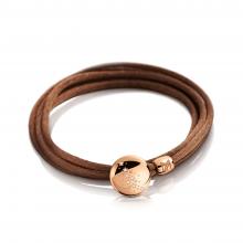 Seidenarmband braun mit Brillant Elemente von Meister bei Juwelier Fridrich in München