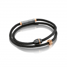 Carbonarmband in Titan-Rotgold mit M-Würfel in Titan von Meister bei Juwelier Fridrich in München