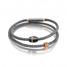 Carbonarmband grau in Titan-Rotgold von Meister bei Juwelier Fridrich in München