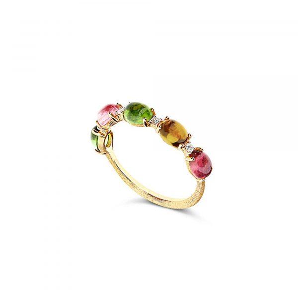 Gelbgold Ring mit Turmalinen von Nanis bei Juwelier Fridrich in München
