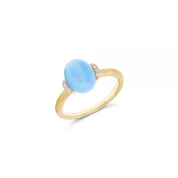 Gelbgold Ring mit Aquamarin von Nanis bei Juwelier Fridrich in München