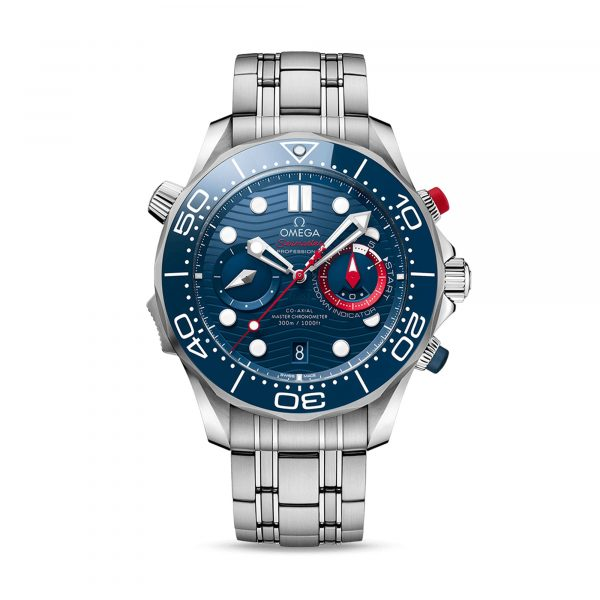 """Diver 300M CoAxial Master Chronometer Chronograph 44 MM """"America's Cup"""" von Omega bei Juwelier Fridrich in München"""