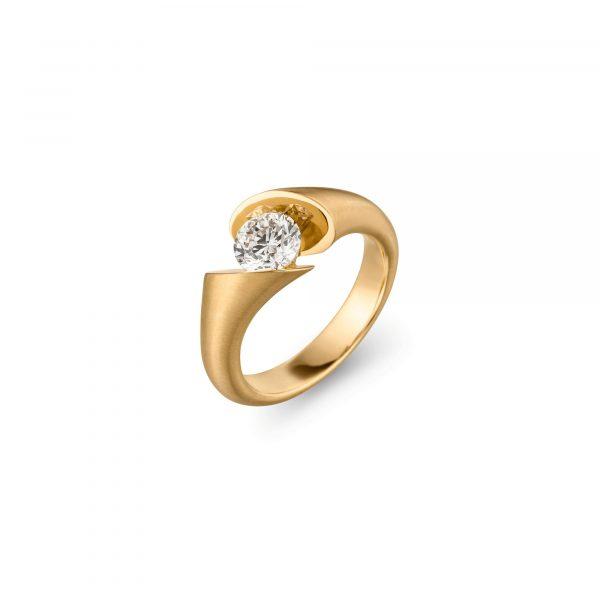 Gelbgold CALLA Solitär Ring von Schaffrath bei Juwelier Fridrich in München