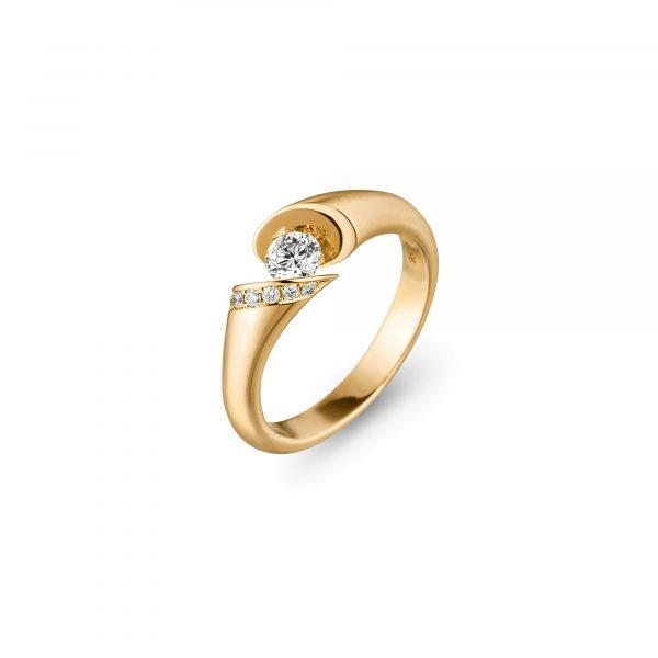 Gelbgold CALLA Brillant Ring von Schaffrath bei Juwelier Fridrich in München