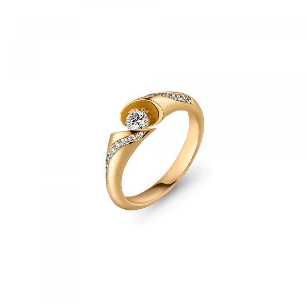 Gelbgold CALLA Supreme Brillant Ring von Schaffrath bei Juwelier Fridrich in München