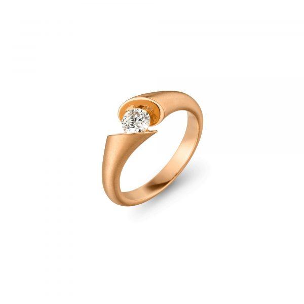Roségold CALLA Solitär Ring von Schaffrath bei Juwelier Fridrich in München