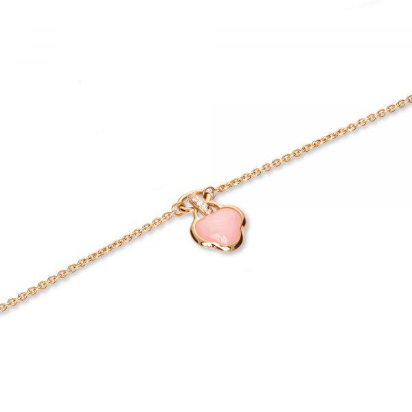 Roségold Armband mit pinkem Opal