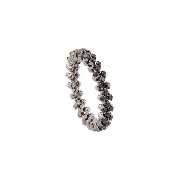 Brevetto Classic Gold Multi Size Ring mit 3 Brillant-Reihen