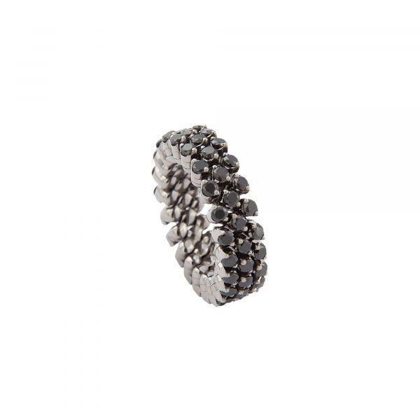 Brevetto Classic Gold Multi Size Ring mit 3 Brillant-Reihen von Serafino Consoli bei Juwelier Fridrich in München