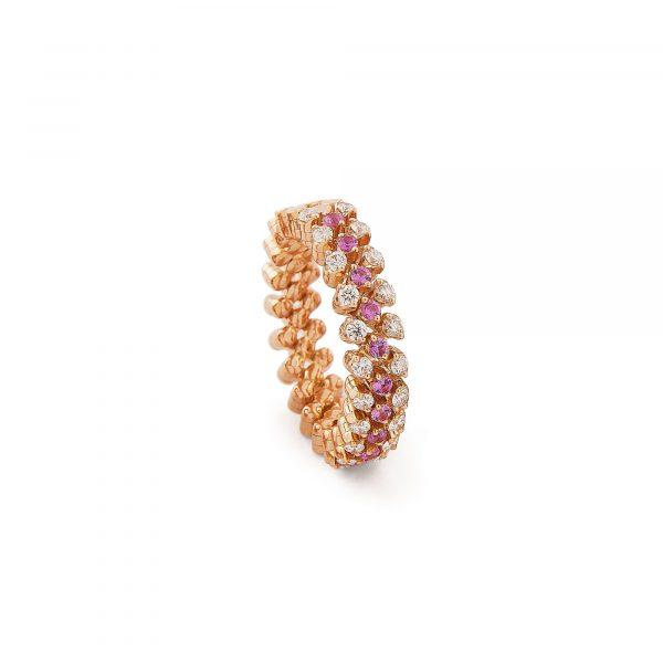 Brevetto Roségold Multi Size Ring mit Brillanten und Saphiren von Serafino Consoli bei Juwelier Fridrich in München