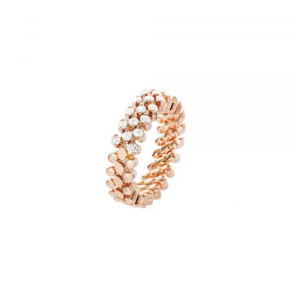 Brevetto Classic Roségold Multi Size Ring mit 3 Brillant-Reihen von Serafino Consoli bei Juwelier Fridrich in München