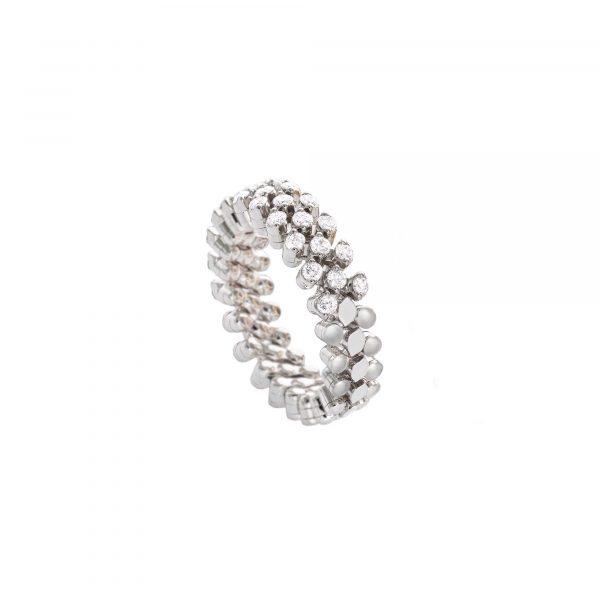 Brevetto Classic Weißgold Multi Size Ring mit 3 Brillant-Reihen von Serafino Consoli bei Juwelier Fridrich in München
