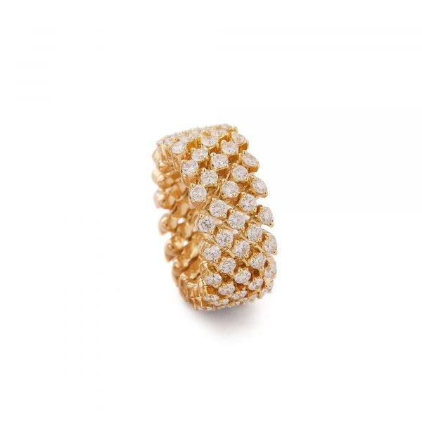 Brevetto Classic Gelbgold Multi Size Ring mit 5 Brillant-Reihen von Serafino Consoli bei Juwelier Fridrich in München