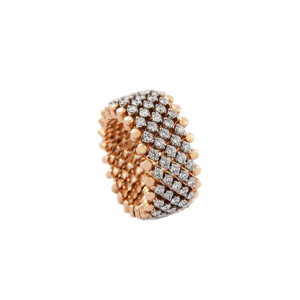 Brevetto Classic Roségold Multi Size Ring mit 7 Brillant-Reihen von Serafino Consoli bei Juwelier Fridrich in München